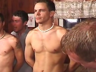 Sexy group homosexual sex party with lustful hunks