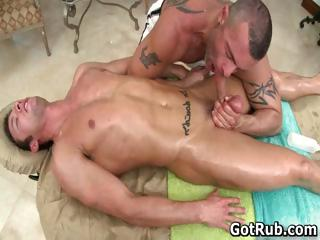 Super hot guy receives fine body massages part5