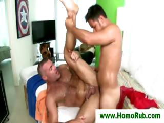 Musuclar guy drilled and jizzed