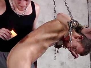 Leo James In Hawt Homosexual Bondage And Wax Sex