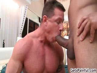 Older muscle man sucking darksome wang part5