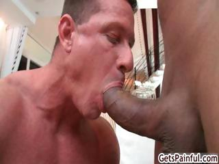 Mature muscle chap engulfing darksome wang part5