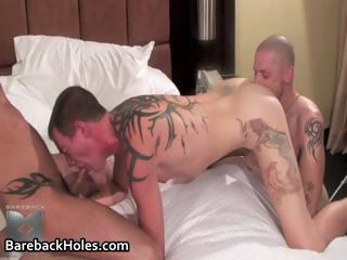Lewd homosexual bareback fucking and cock part2