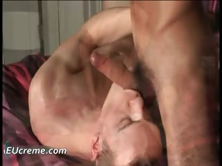 Engulfing his jock right and getting