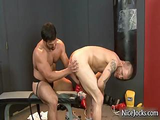 Hawt jock acquires assfucked at gym part1