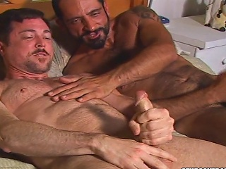 Bearded stud Andrew Adams licks Tom Colts asshole...