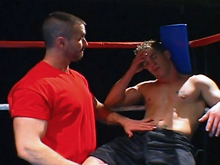 Boxing rods receive wicked in the ring before blowing loads on every other...