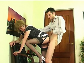 Upskirt homo sissy in soft stockings giving head and getting gangbanged from...