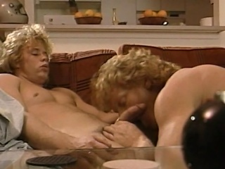 These 2 golden-haired surfer men have the hots for one another's bodies,...