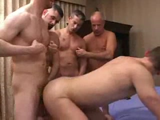 Homosexuals partying with anal penetration