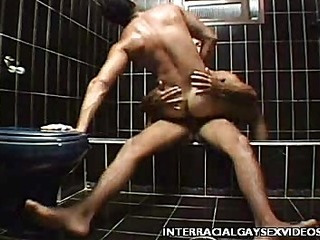 Homo Interracial Shower Fuck