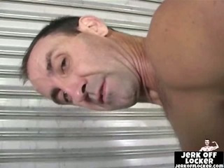 Hot mature guy shows his butt