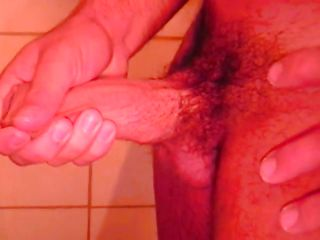 Ricco is all alone in the shower, he is getting sexually excited and touches his muscled body in advance of rubbing that hard dick of his. Ricco enjoys every pont of time of his masturbation and if we stay with him perhaps he will cum for us.