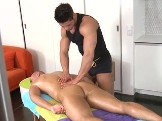 Sensual and hot massage session for gorgeous twinks