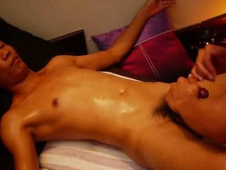 Crooked Uncut Oriental Cock Acquires Smooth Thai Massage