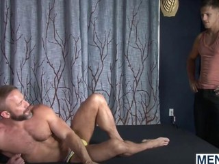 Roman Todd and Dirk Caber have a fun hotel fuck session
